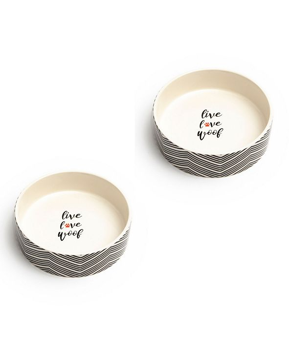 "Park Life Designs Alto Medium 6.5"" Pet Bowl, Set of 2"