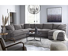 Rhyder Fabric Sectional Collection, Created for Macy's