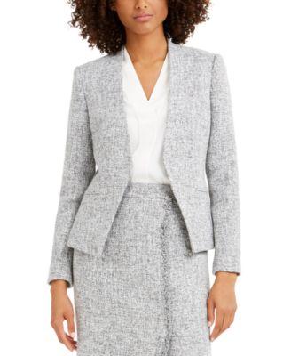 Tweed Open-Front Blazer
