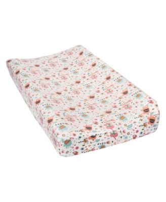 Playful Elephants Flannel Changing Pad Cover