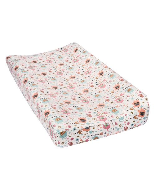Trend Lab Playful Elephants Flannel Changing Pad Cover