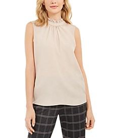 Sleeveless Ruffle Neck Top