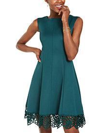 Donna Ricco Scuba Fit & Flare Dress