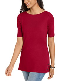 Elbow-Sleeve Stud-Trim Tunic, Created For Macy's
