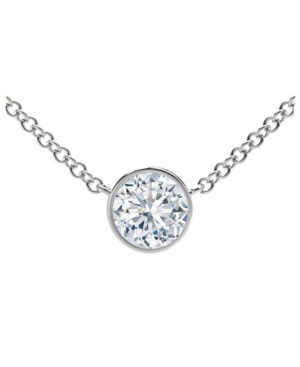 Forevermark Tribute Collection Diamond (1/2 ct. t.w.) Necklace with Mill-Grain in 18k Yellow