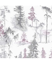 Mystical Forest Lilac Wallpaper