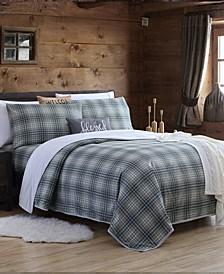 Blanket Sheet Set with Reversible Faux Mink Flat Sheet - Twin