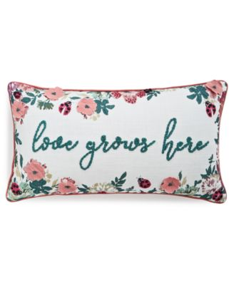 "Love Grows Here 14"" x 26"" Decorative Pillow"