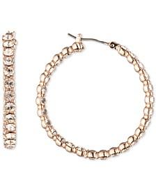 """Medium Pavé Hoop Earrings, 1.4"""""""