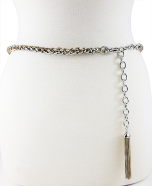 Tubular Twist Chain Belt with Tassel Ornament