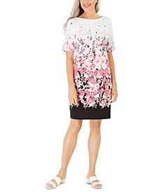 Petite Floral-Print Dress, Created for Macy's