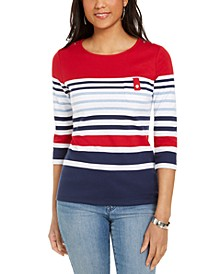 Colorblocked Striped Top, Created for Macy's