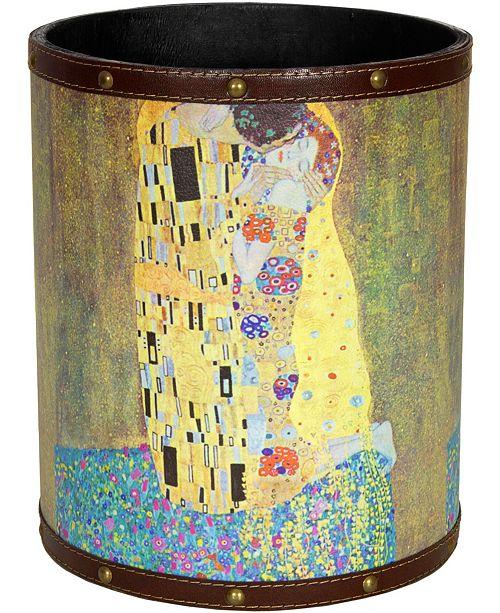 Red Lantern Klimt The Kiss Waste Basket