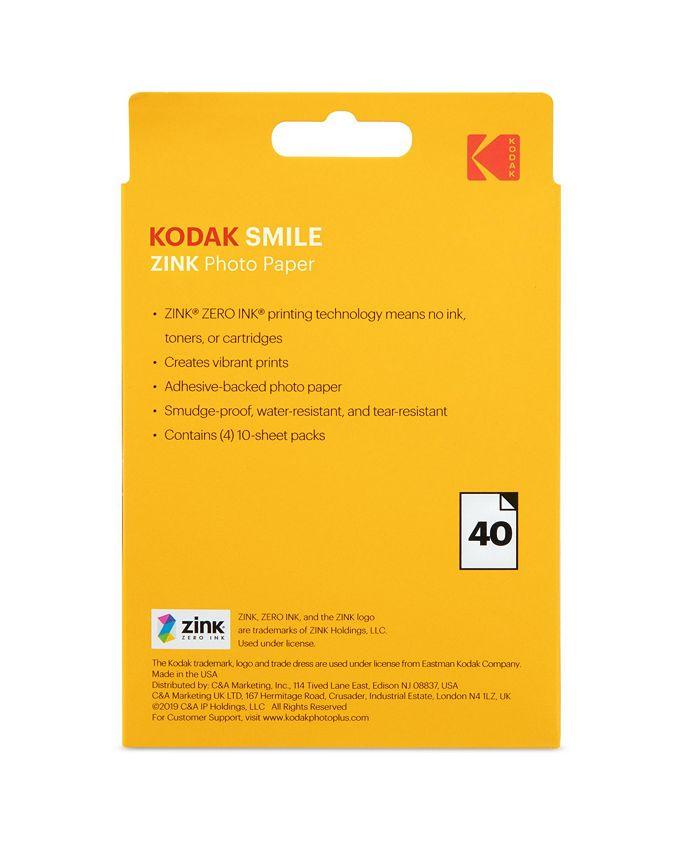 Kodak - 3x4 ZINK Photo Paper - 40 Pack