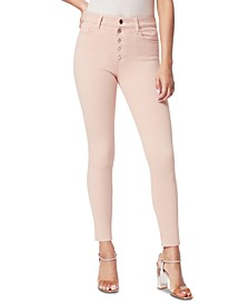 Joe's Charlie Exposed-Button Ankle Skinny Jeans