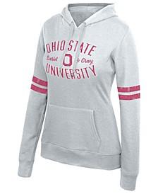 Women's Ohio State Buckeyes Sleeve Stripe Hooded Sweatshirt