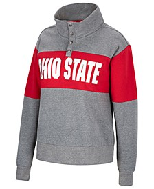 Women's Ohio State Buckeyes Colorblock Half-Snap Sweatshirt