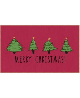 Christmas Trees Accent Rug, 30