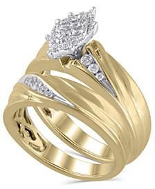 Certified Diamond (1/3 ct. t.w.) Bridal Set in 14K Yellow Gold