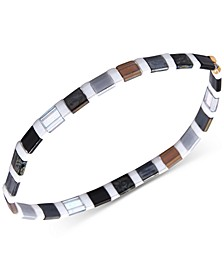 Striped Beaded Stretch Bracelet