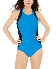 Sport Mesh Racerback One-Piece Swimsuit