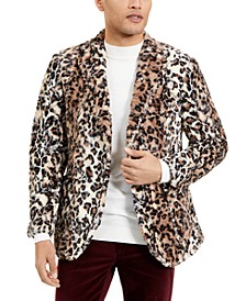 Men's Leopard Faux Sport Coat