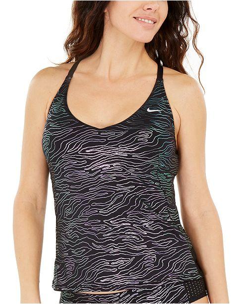 Nike Geo Onyx Printed Tankini Top