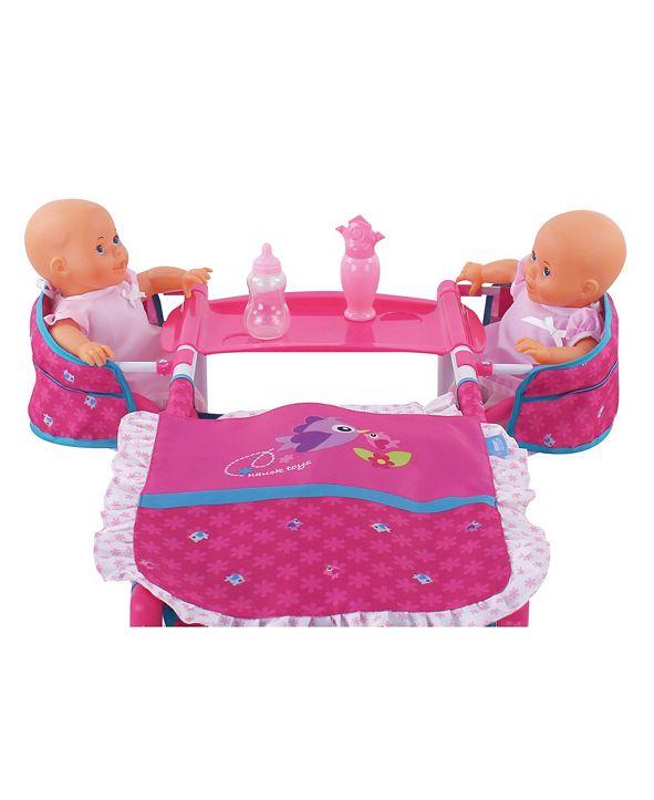 Hauck Birdie Pretend Play Baby Doll Twin Play Center ...