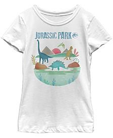 Jurassic Big Girl's Park Island Diversity Short Sleeve T-Shirt