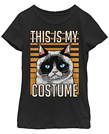 Big Girls Grumpy Cat Costume Short Sleeve T-shirt