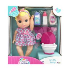 New Adventures Little Darlings It's My Potty Toy Baby Doll Play Set