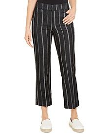 Striped Cropped Tummy Control Pants, Created for Macy's