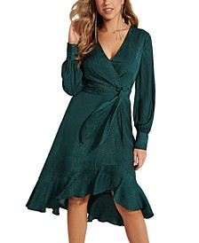 Raelana Faux-Wrap Dress