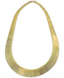 """Graduated 17"""" Statement Necklace in 18k Gold-Plated Sterling Silver, Created for Macy's"""