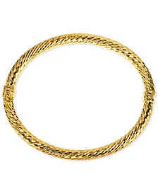 Textured Hinged Bangle Bracelet in 18k Gold-Plated Sterling Silver, Created for Macy's