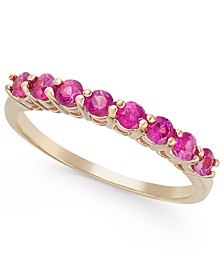 Pink Sapphire Band (3/4 ct. t.w.) in 14k Rose Gold