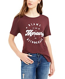 Juniors' Mercury Retrograde Graphic T-Shirt