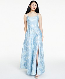 Floral Brocade Gown
