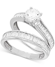 Certified Diamond Baguette Bridal Set (2 ct. t.w.) in 14k White Gold