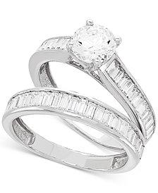 Certified Diamond Baguette Bridal Set (2 ct. t.w.) in 14k White Gold