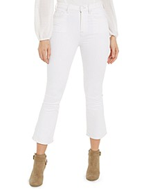 Cropped Kick Flare High-Waist Jeans