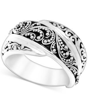Filigree Overlap Statement Ring in Sterling Silver