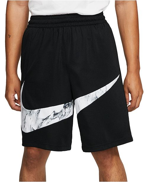 Nike Men's Dri-FIT Printed-Logo Basketball Shorts