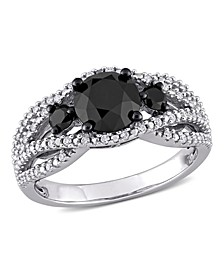 Black and White Diamond (1 7/8 ct. t.w.) Engagement Ring in 14k White Gold
