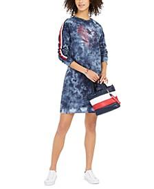 French Terry Tie-Dye Sweatshirt Dress