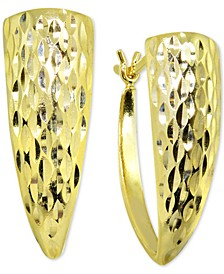 Textured Graduated Hoop Earrings in 18k Gold-Plated Sterling Silver, Created For Macy's