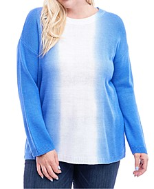 Plus Size Dip-Dyed Top