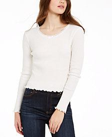 Polly & Esther Juniors' Cropped Thermal T-Shirt