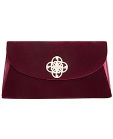 Velvet Flap Clutch, Created for Macy's