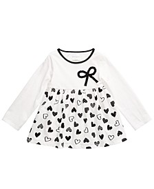 Baby Girls Cotton Bow Heart Tunic, Created For Macy's